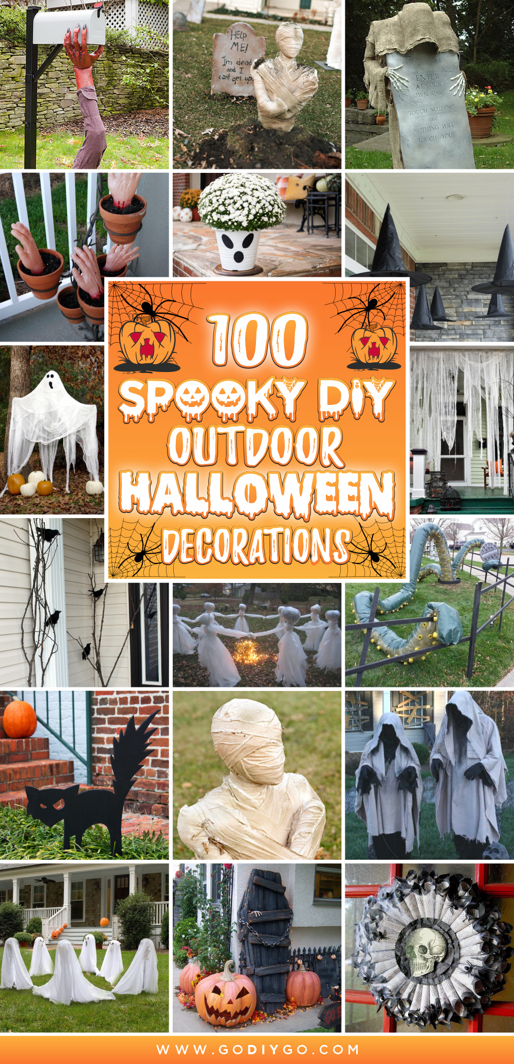 100 Spooky Diy Outdoor Halloween Decorations Godiygo Com