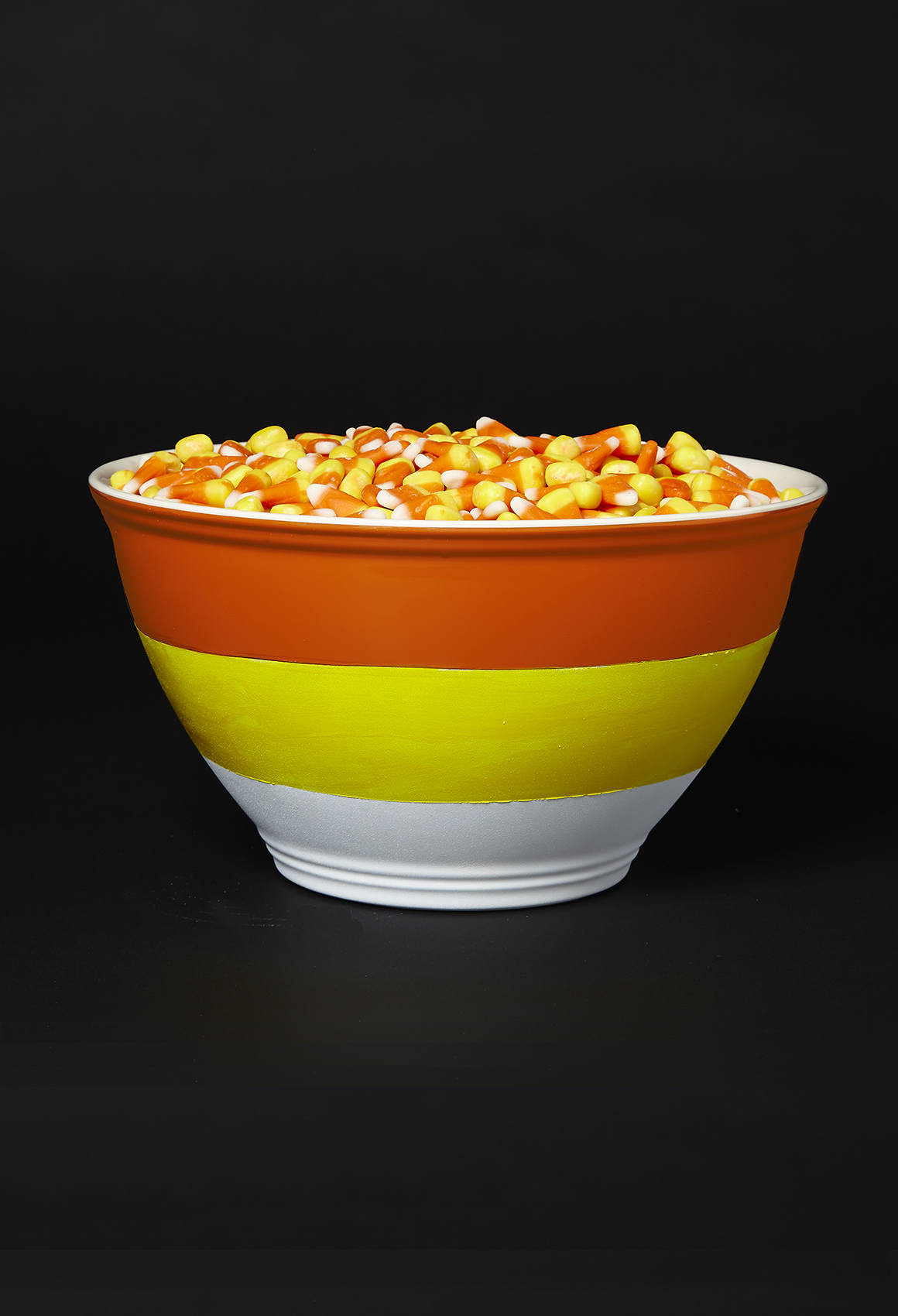 Candy corn bowl DIY Halloween Candy Bowls You Can Serve For Halloween Treats