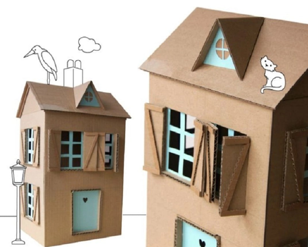 Carton dollhouse yes Amusing DIY Dollhouse Projects Where Your Children Can Enjoy With Cherished Forever