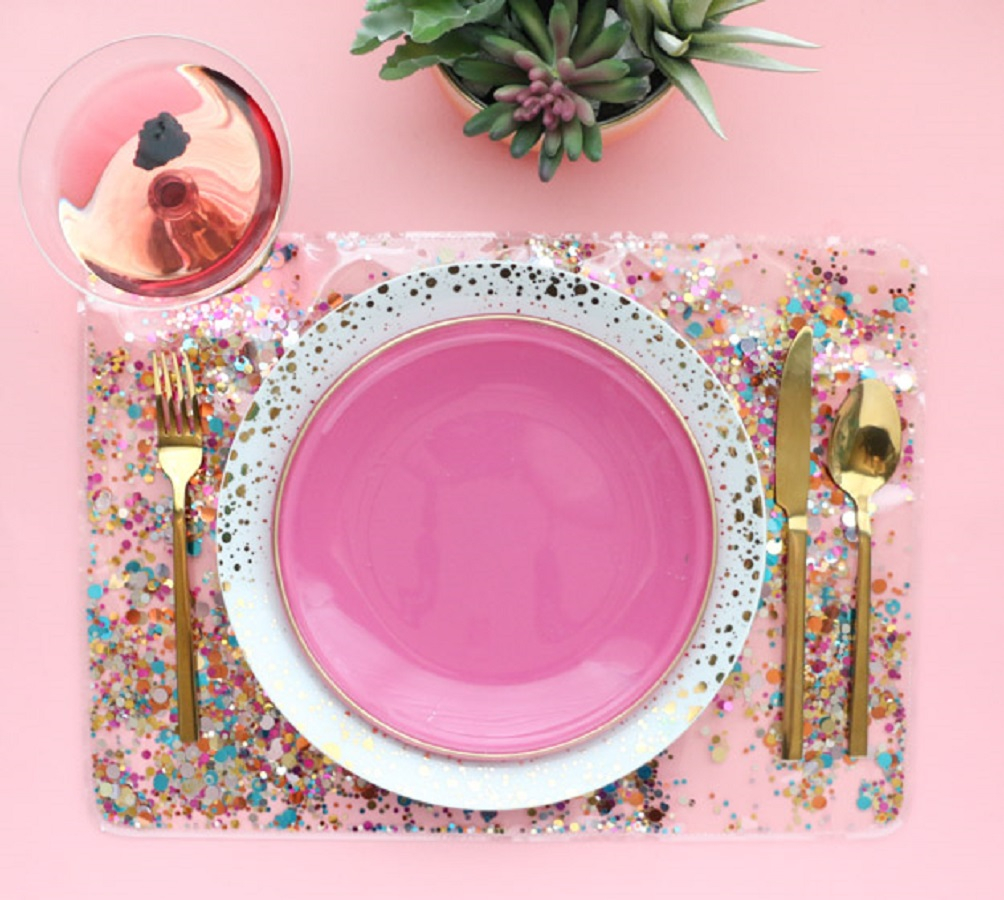 Confetti placemat DIY Winsome Placemats For The Perfect Table Setting Presentation