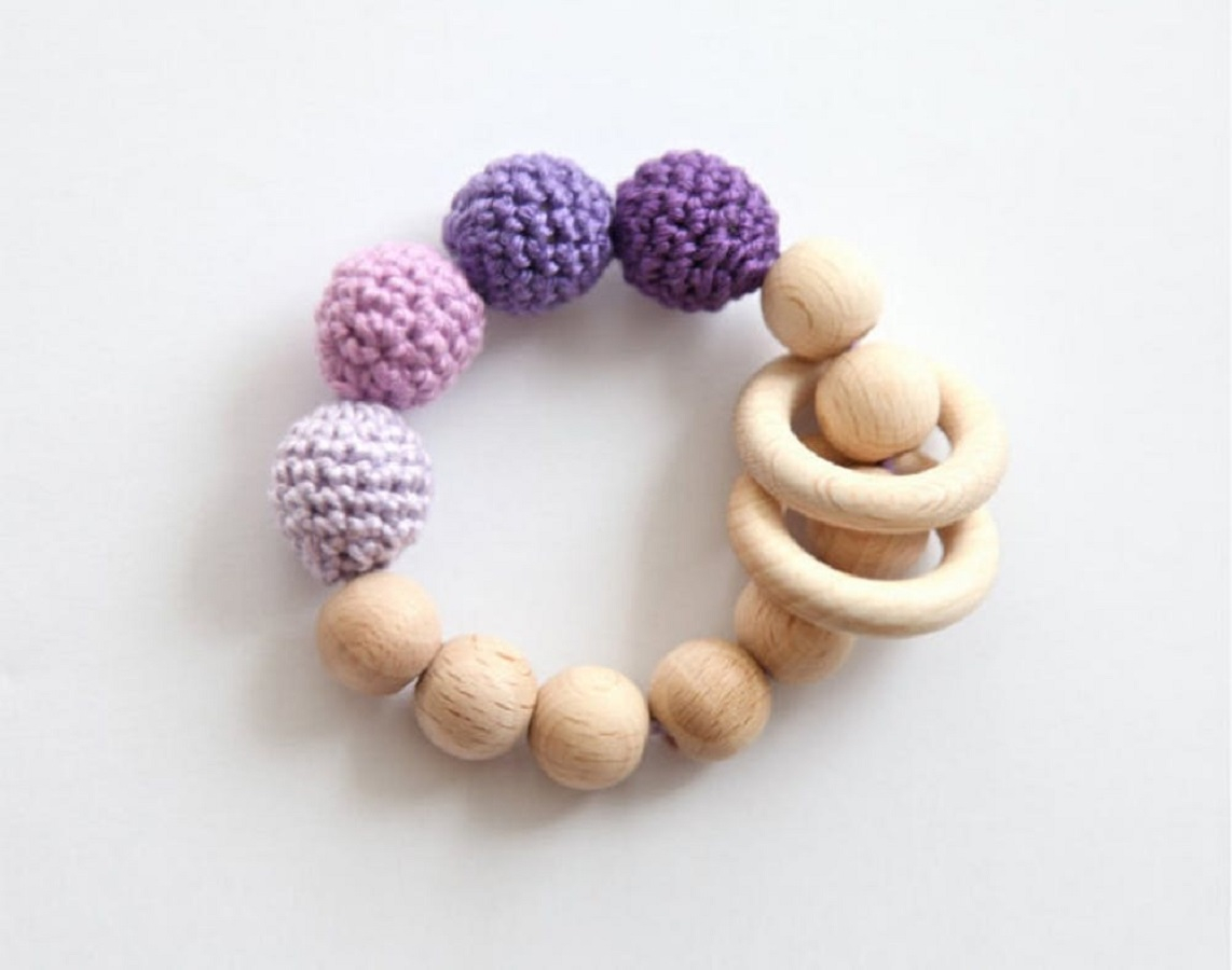 Crochet teething toy Thoughtful DIY Baby Shower Gift Ideas You Can Do That Any Mother Would Love