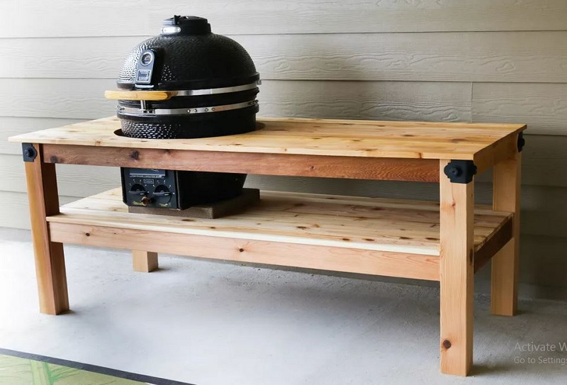 Diy barbeque drill on a bench1