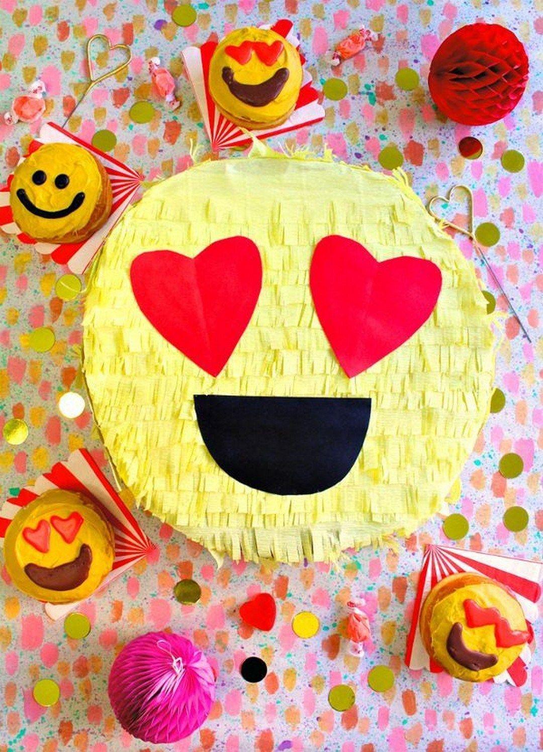 Emoji pinata gift box DIY Pinatas For Every Kind Of Party You Can Make At Home