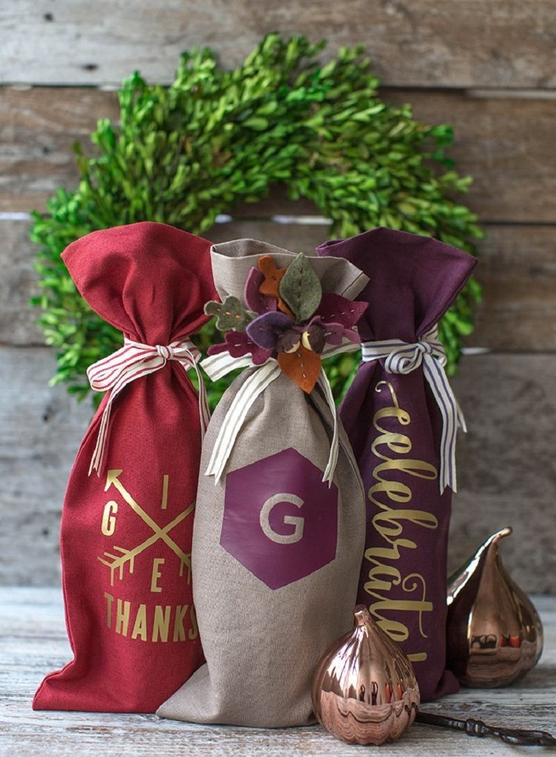 Fabric bottles gift bags Superlative DIY Gift Bag Ideas You Can Create For Every Occasion