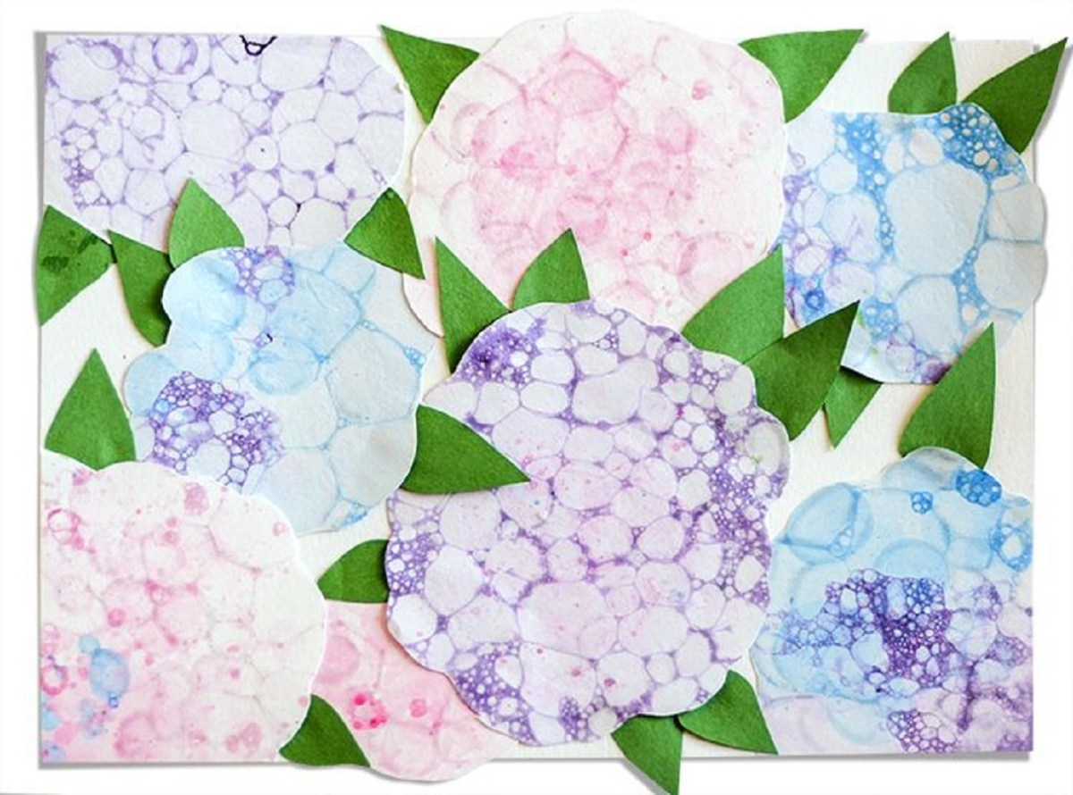 Flower art made with bubbles DIY Inspire Flower Crafts Ideas Your Kids Can Create With Or Without You