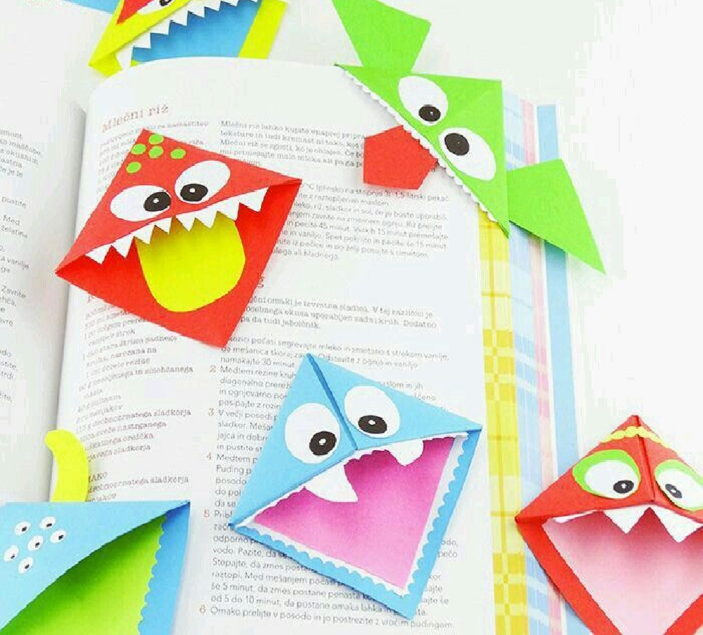 Monster bookmarks DIY Effortless Halloween Crafts For Kids To keep Them Busy This Month