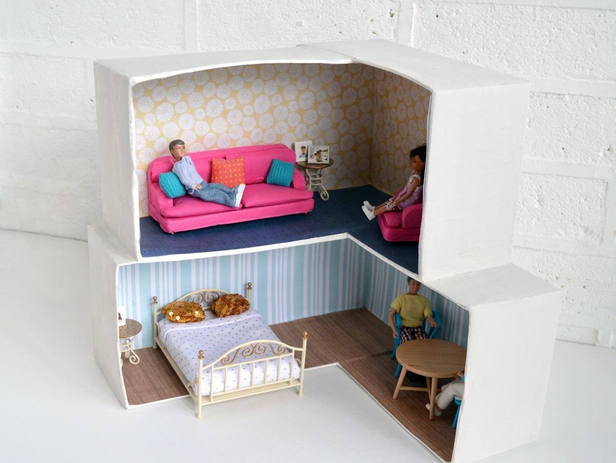 Shoebox dollhouse Amusing DIY Dollhouse Projects Where Your Children Can Enjoy With Cherished Forever