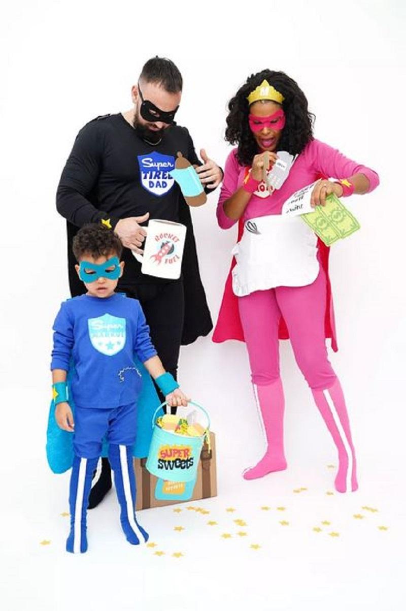 Superhero costume for family