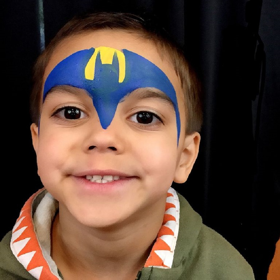 Superhero mask face paint Incredible Halloween Face Paint Ideas For Kids That Unartistic Parents Can Attempt