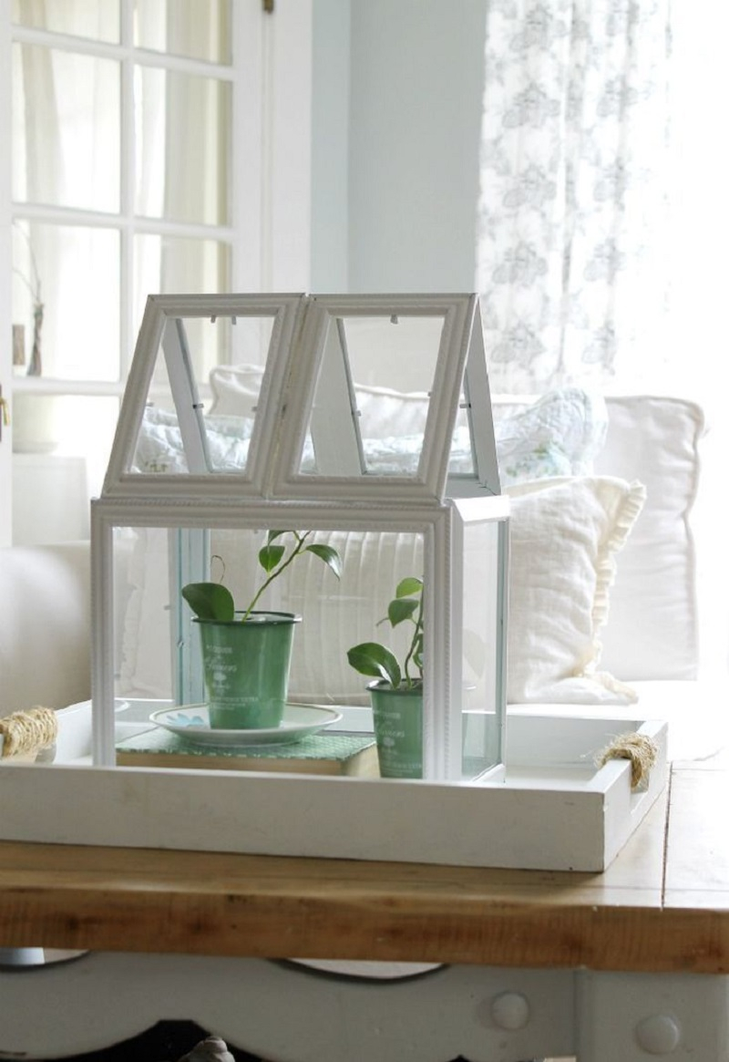 Transform picture frames into a terrarium Precocious DIY Ideas To Repurpose Old Picture Frames That Truly Functional And Inexpensive
