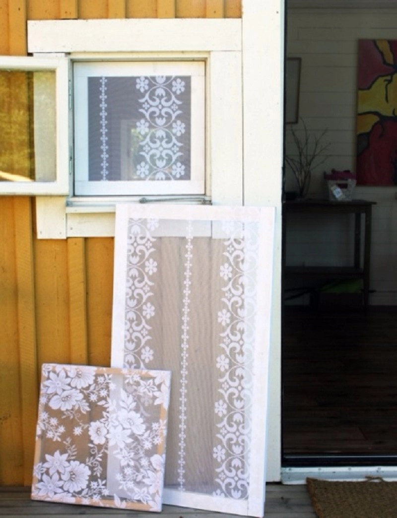 Add lace to the windows