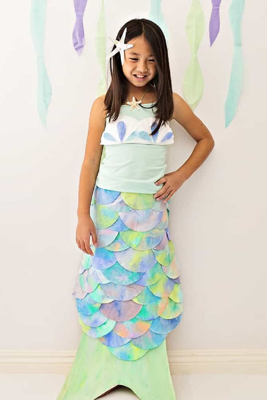 Diy coffee filter mermaid costume DIY Mermaid Costume Ideas For Adults And Kids You Can Make This Halloween