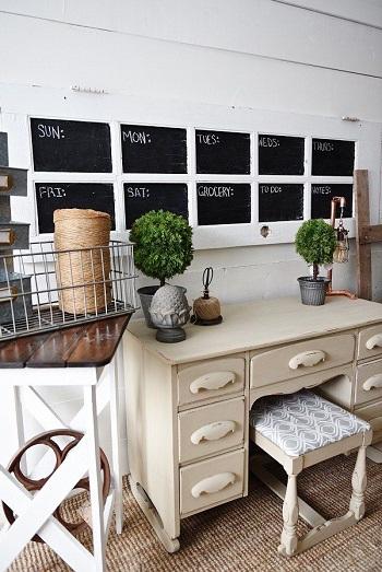 Diy door chalkboard calendar Innovative DIY Ideas Of Reuse Old Doors For Useful Item Projects