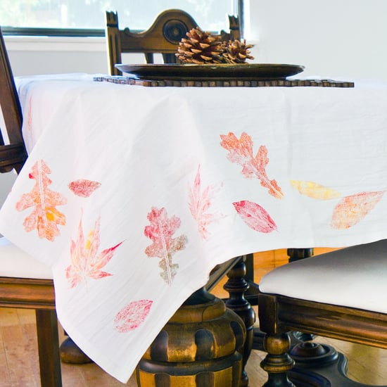 Diy fall leaf tablecloth DIY Tablecloths Ideas For Fall, Holiday And Any Day You Want