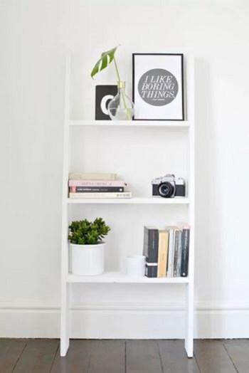 Diy ledder shelves