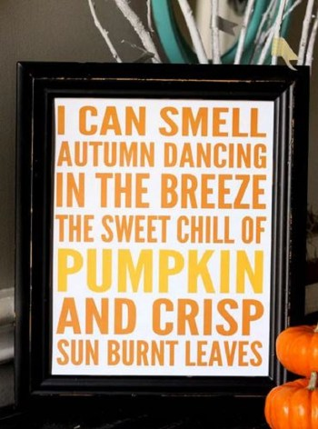 Fall printable art that easy to make