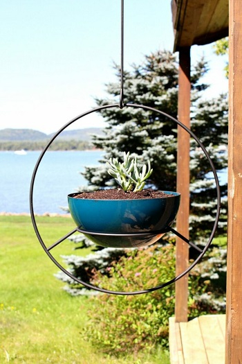 Hanging hoop stand Pretty Fresh DIY Planters You Can Create From Scratch Or Recycled Materials