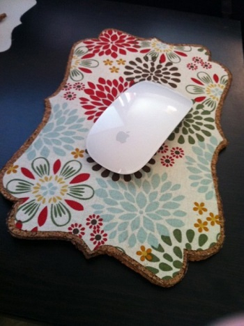 Mousepad from fabric and cork board DIY Never Boring Mouse Pad Ideas With Simple Materials