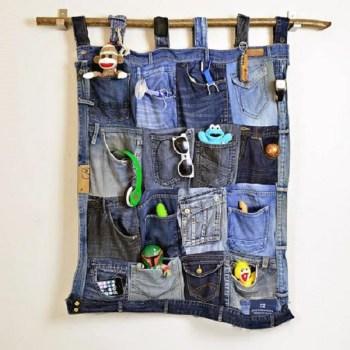 Old denim pockets