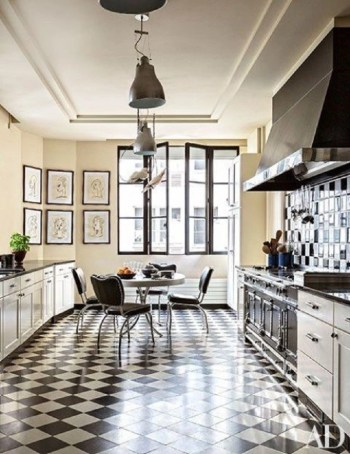 Bold kitchen in black and white