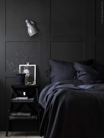 Chic nordic moody bedroom