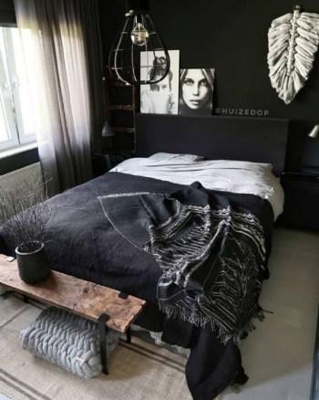 Contemporary moody bedroom
