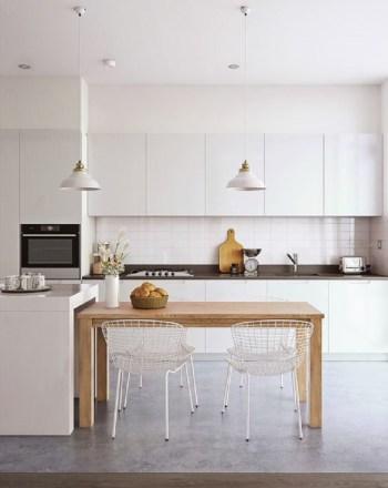 Minimalist kitchen in white