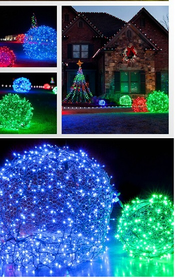 Christmas light balls Homemade Outdoor Decoration Ideas To Complete Your Christmas Celebration