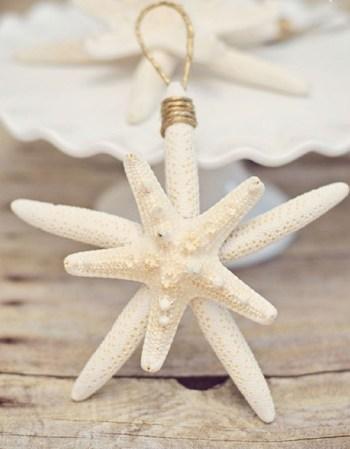 Coastal starfish ornament for christmas