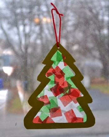 Cool diy stained glass christmas tree