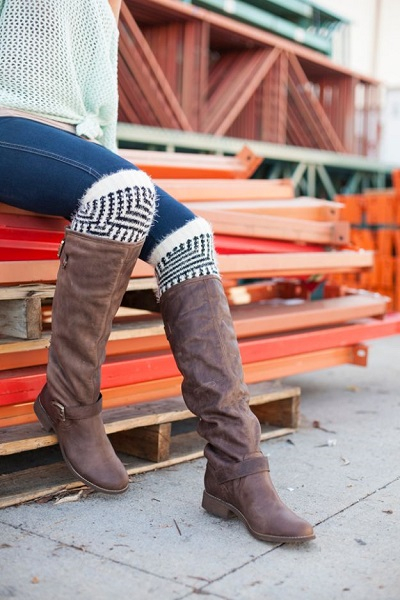 Diy boot socks DIY Stylish Clothes And Accessories To Warm You Up This Winter
