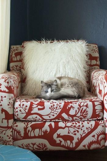 Diy faux fur throw pillow