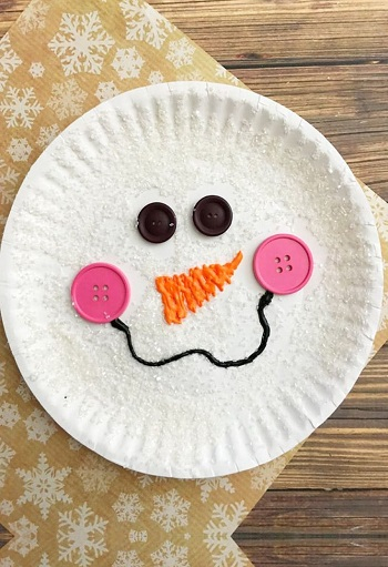 paper plate snowman Bewitching Winter Paper Craft Ideas To Let Your Home Full Of Christmas Joy