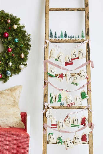 Ladder calendar DIY Spellbinding Advent Calendars That Will Ge You So Excited For Christmas