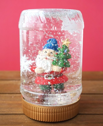 Peanut butter jar snow globe Joyful DIY Snow Globes That Will Make You Excited To Welcome This Christmas