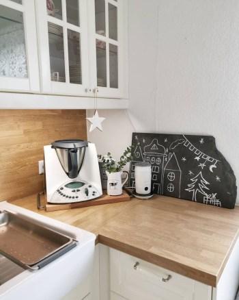 Scandi christmas kitchen corner decor