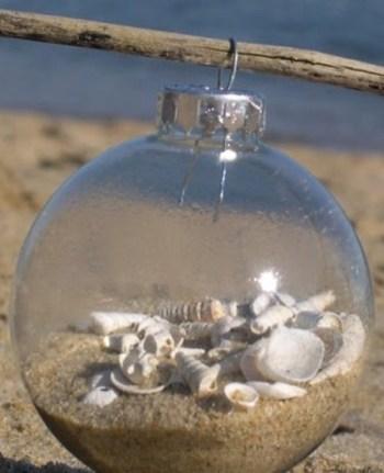 Simple glass beach ornament