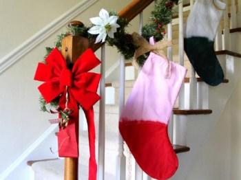 Color block christmas stockings