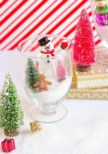 Diy snowman terrarium
