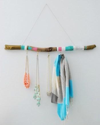 Diy boho scarf hanger