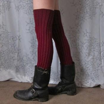 Diy easy no sew long leg warmers