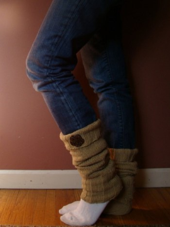 Diy leg warmers with buttons