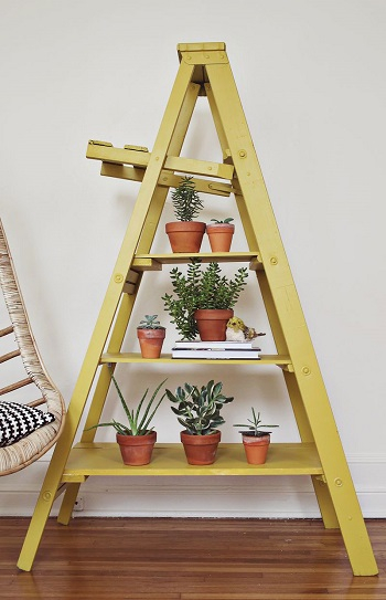 Ladder indoor garden Pleasant Indoor Garden Ideas To Cure The Winter Blues This Season