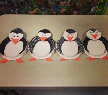 Paper plate penguin