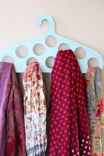 Plywood scarf hanger diy