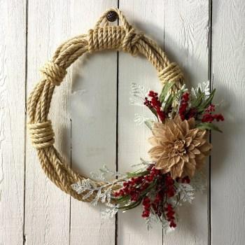 Rustic rope wreath