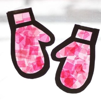 Stained glass gloves