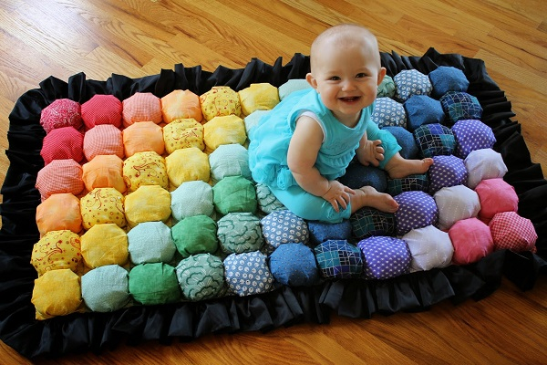 Unique bubble quilt DIY Winter Blankets To Keep Your Baby Warm Even When Go For A Walk