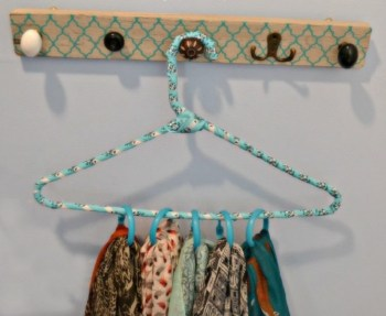 Super easy and inexpensive diy scarf hanger