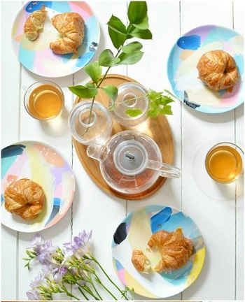 Abstract tableware DIY Beautiful Hand Painted Look For Your Decorative Plates